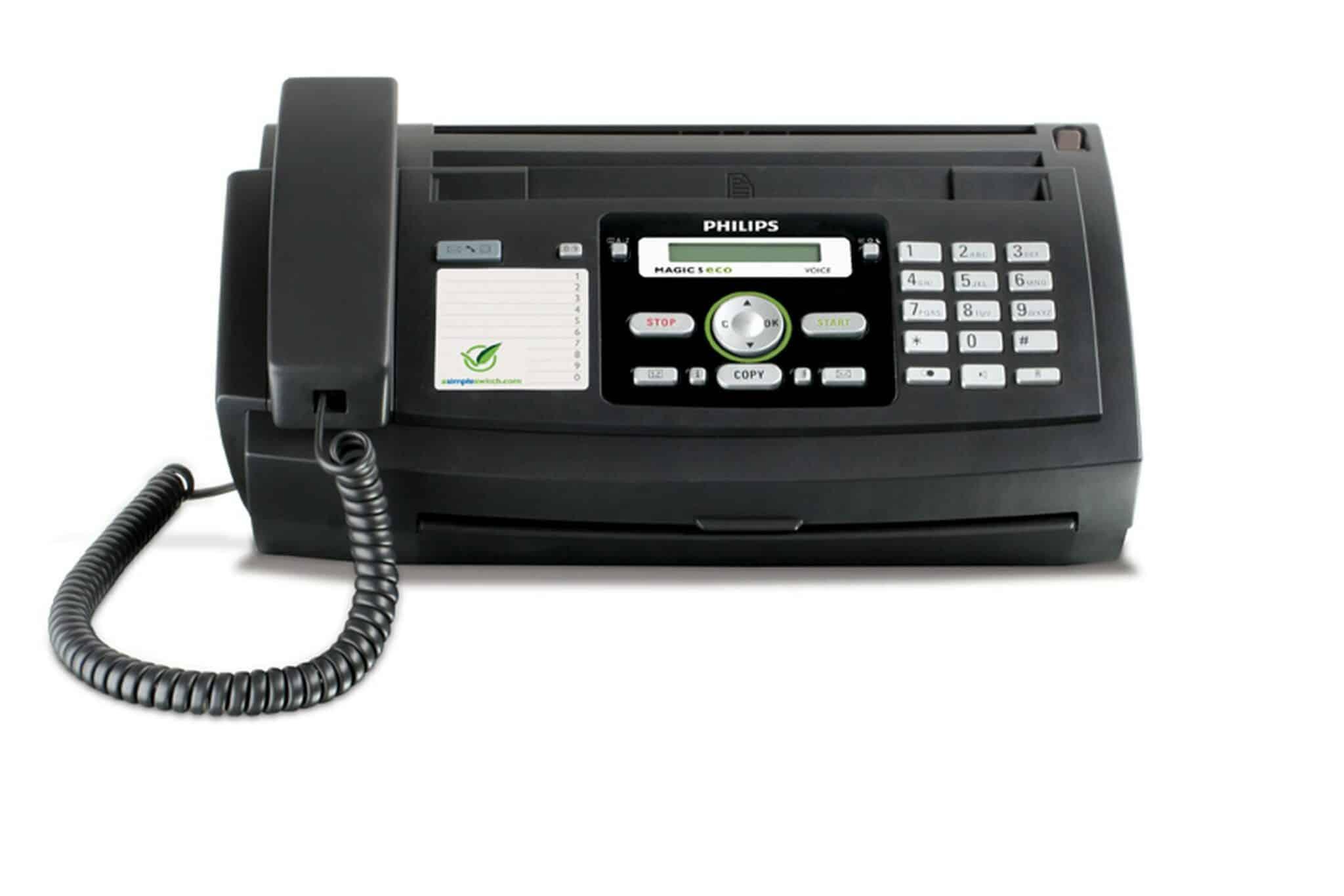 4 in 1 philips magic 5 eco voice primo fax ger t mit telefon und ab neu gastro. Black Bedroom Furniture Sets. Home Design Ideas