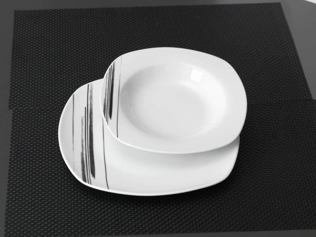 ritzenhoff und breker tafelservice flirt porzellan serie nero 12 teilig neu gastro. Black Bedroom Furniture Sets. Home Design Ideas