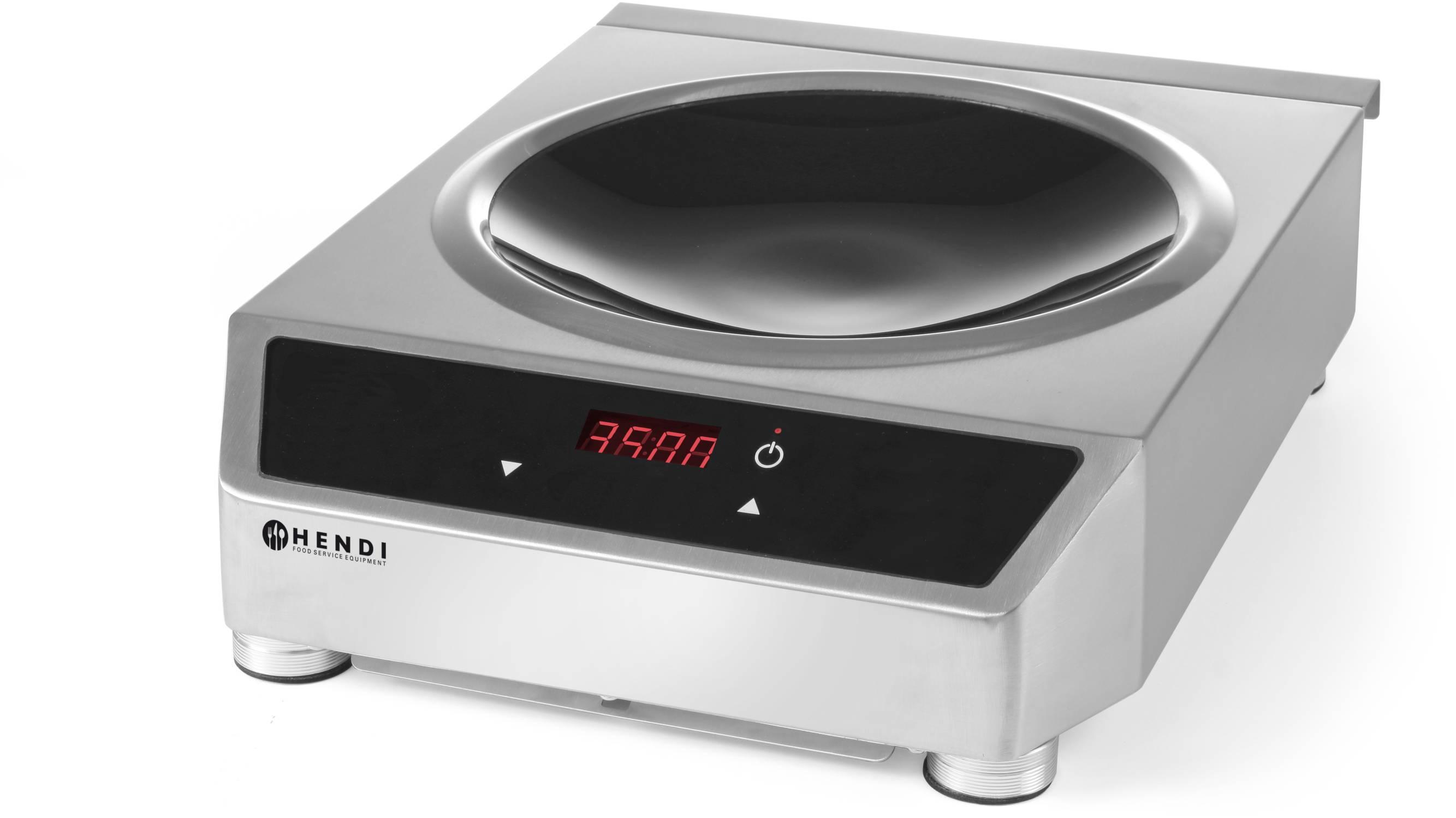hendi gastro digital wok set induktion wok pfanne induktionskocher neu gastro. Black Bedroom Furniture Sets. Home Design Ideas