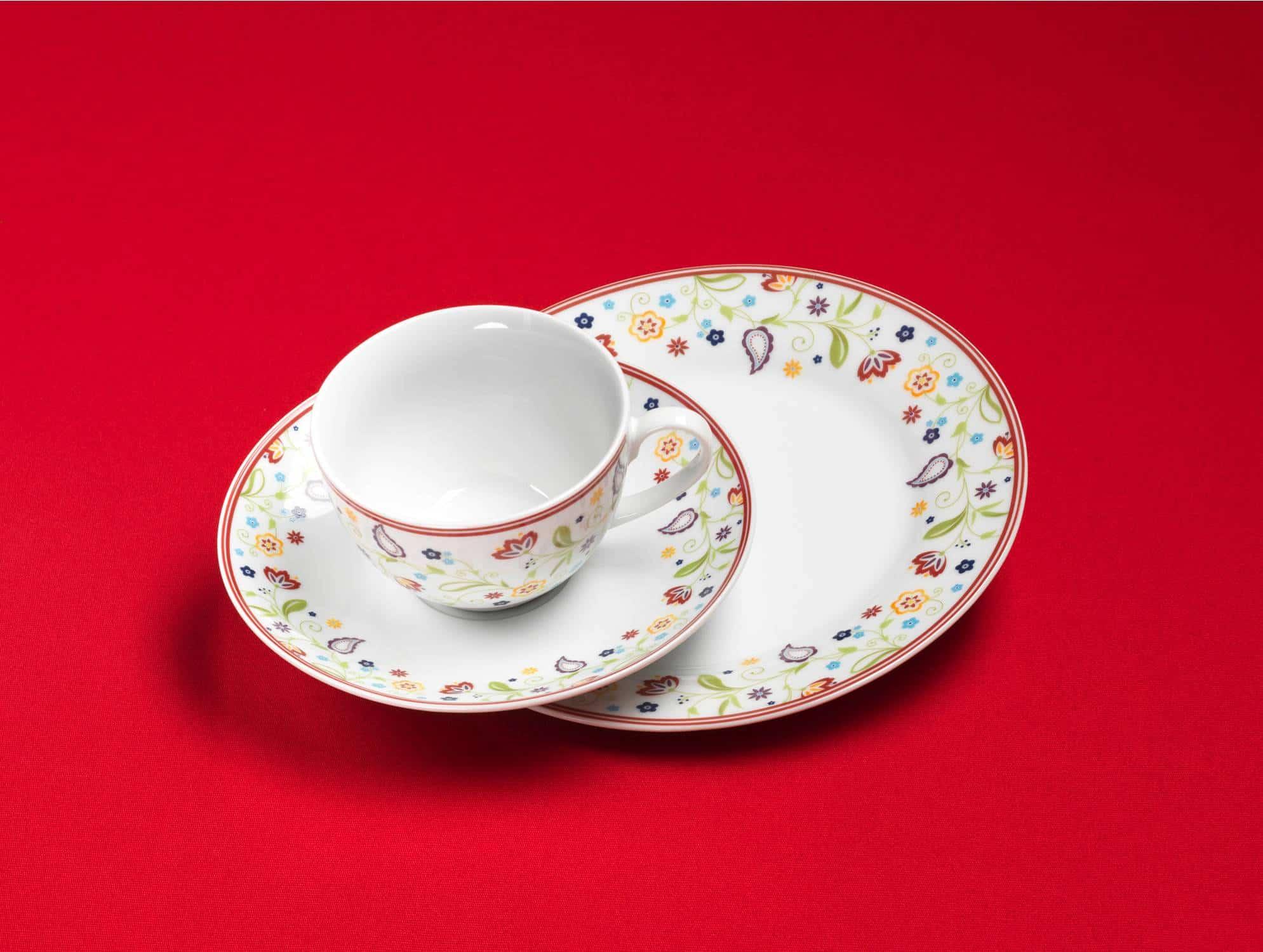 Ritzenhoff Porzellan Kaffeeservice Serie Doppio Shanti 18 Tlg Neu