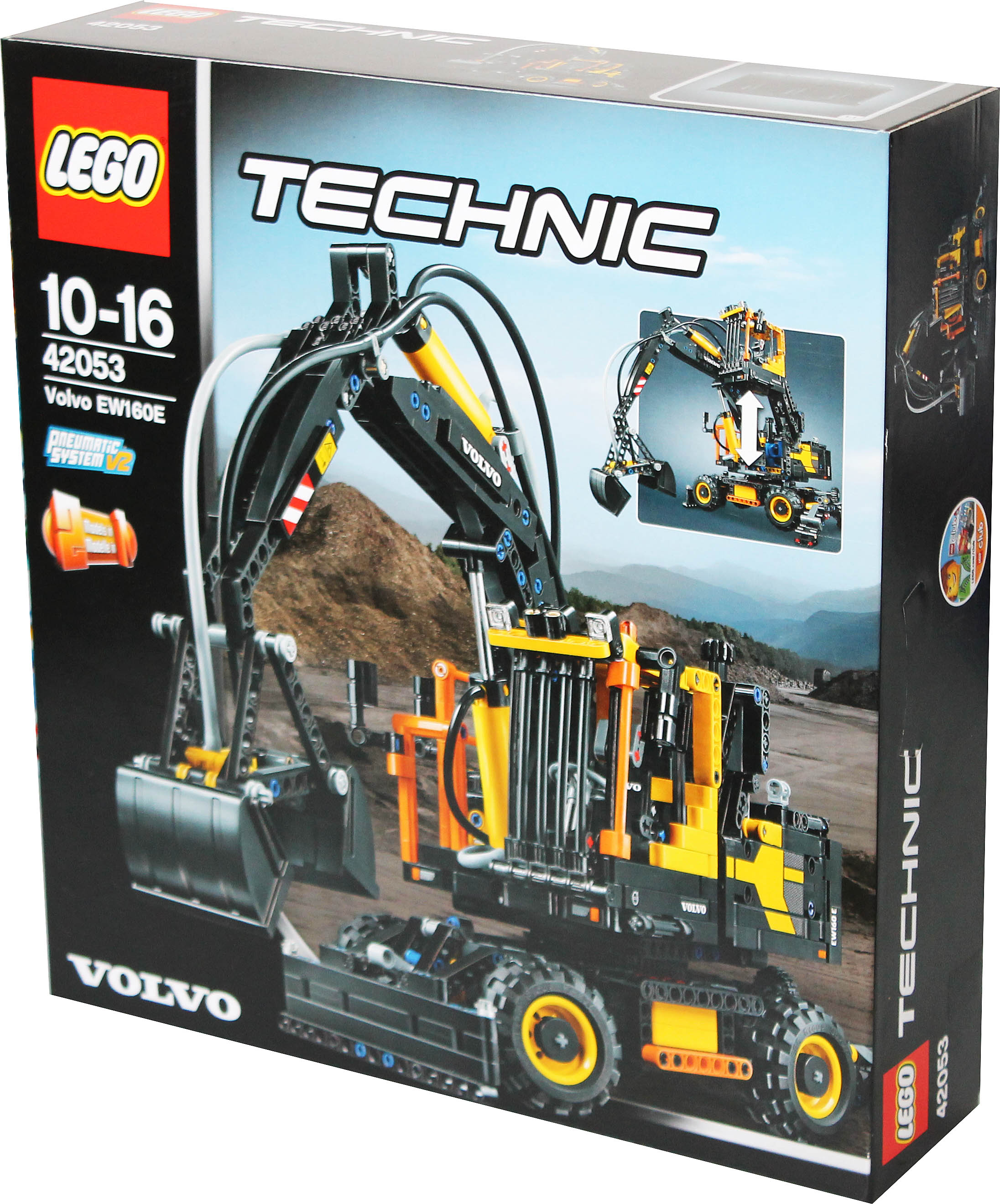 2 in 1 lego technic 42053 volvo ew160e oder l30g bagger. Black Bedroom Furniture Sets. Home Design Ideas