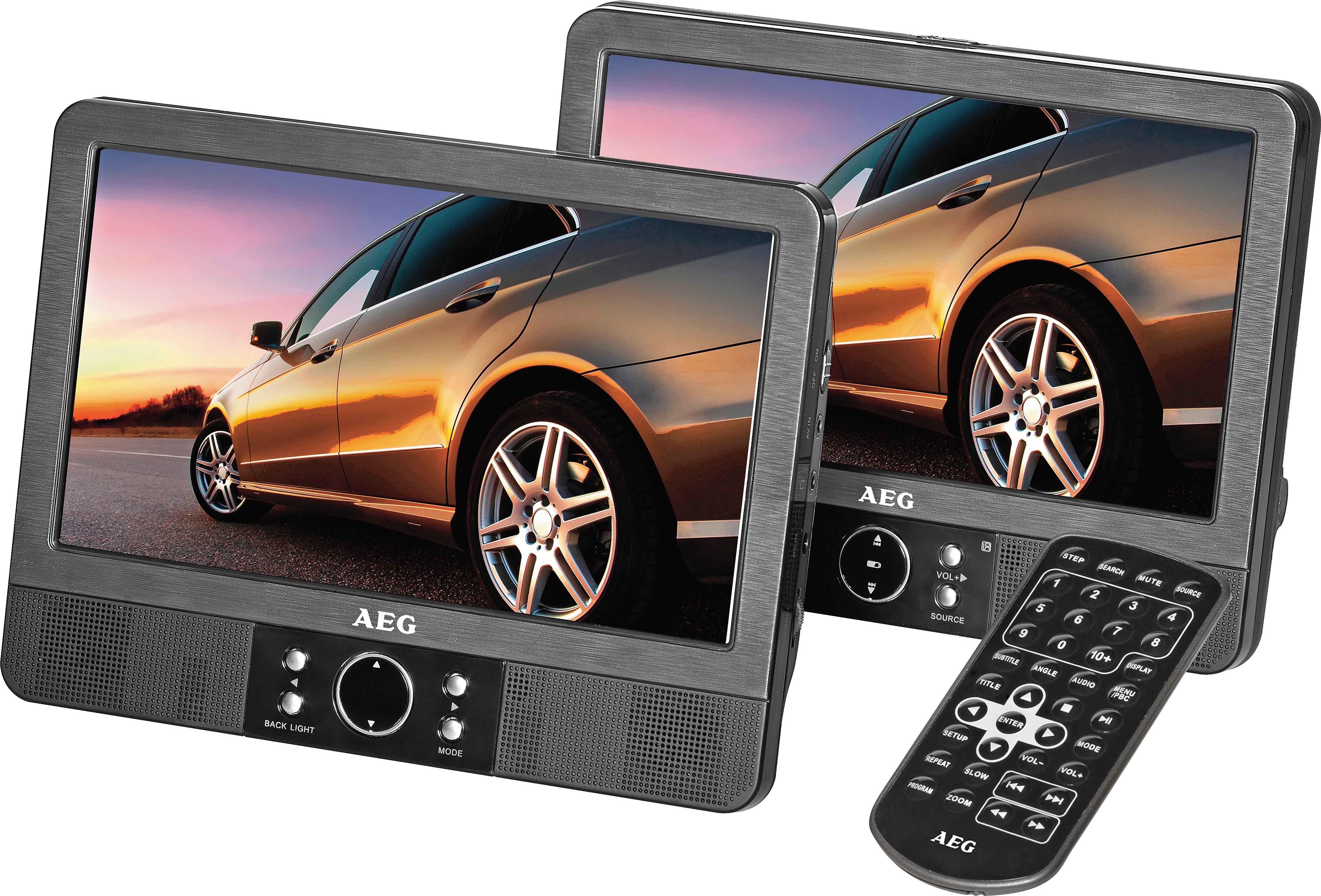 aeg twin duo 9 zoll monitor dvd player car cinema mit. Black Bedroom Furniture Sets. Home Design Ideas
