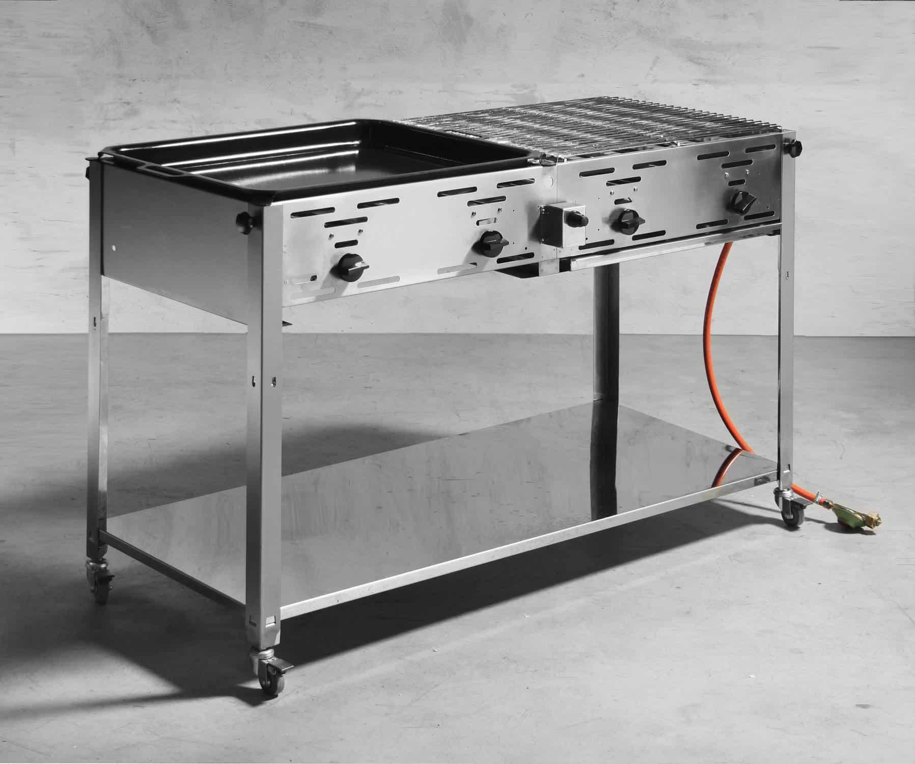 hendi gastro grill master quattro gas grill inkl grill und bratpfanne neu gastro. Black Bedroom Furniture Sets. Home Design Ideas