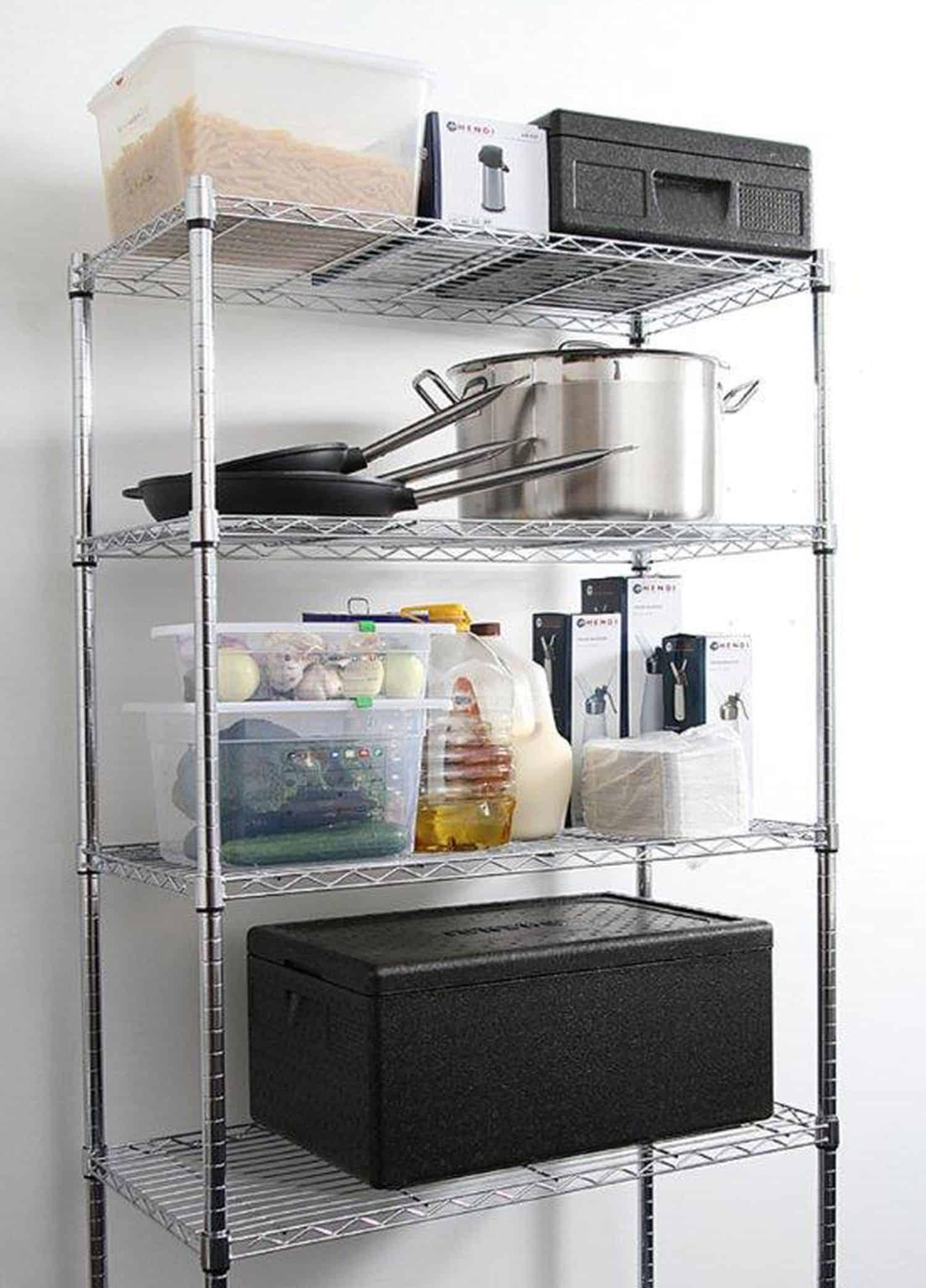 Hendi Gastro Küchen-Regal-System mit 5 Böden Storage-Rack NEU ...