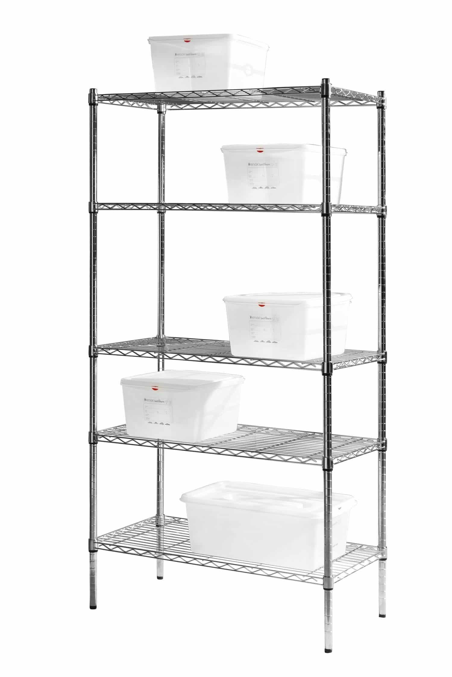 hendi gastro k chen regal system mit 5 b den storage rack. Black Bedroom Furniture Sets. Home Design Ideas