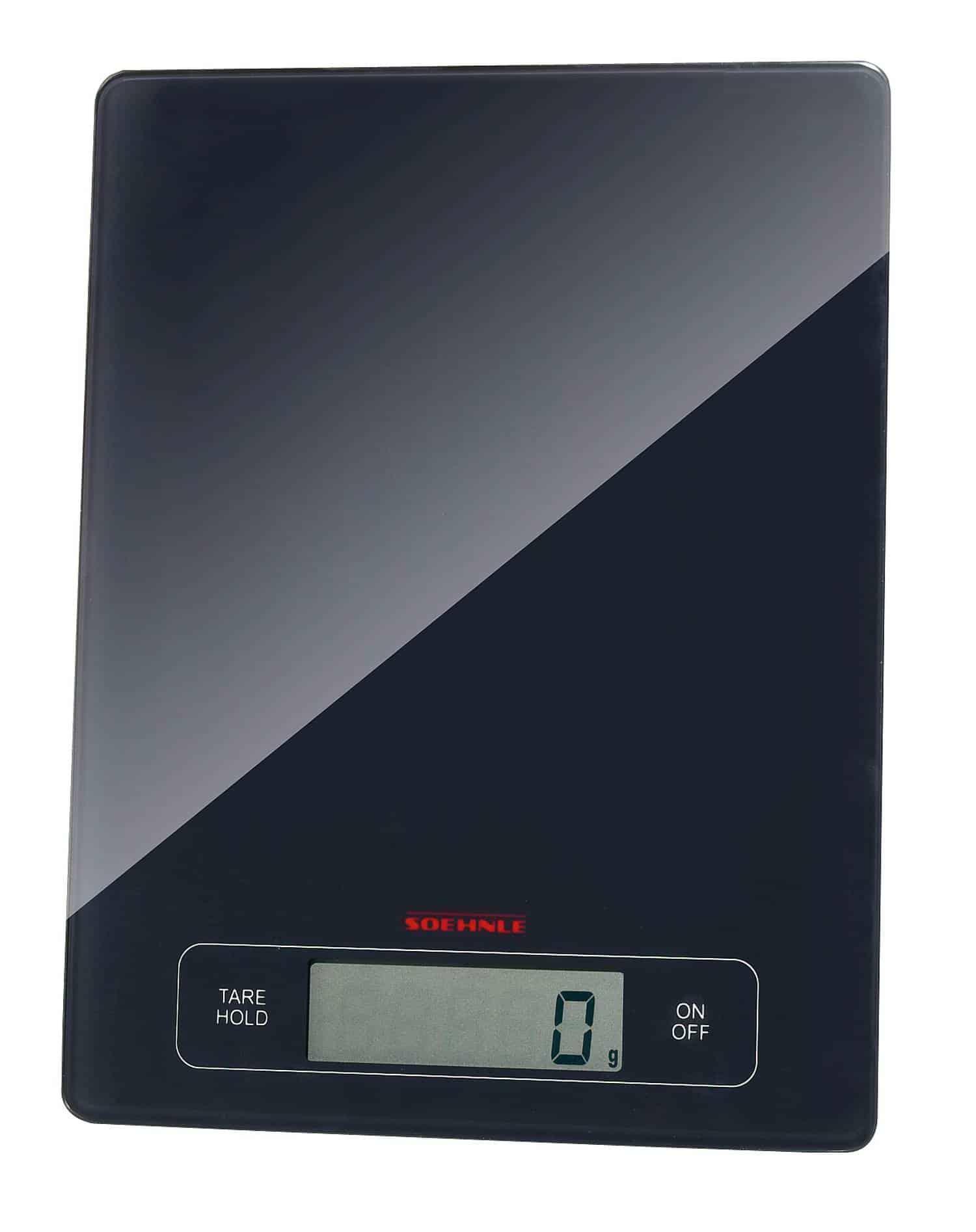 Küchenwaage Digital weiß Glas Waage Digital Waage LCD Display Briefwaage