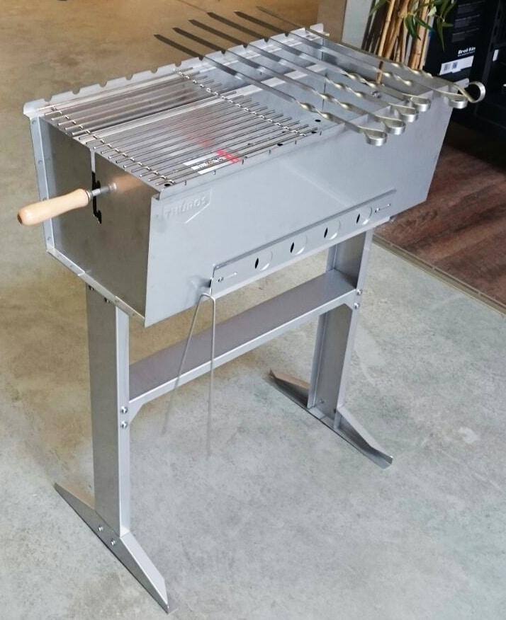 th ros gastro holzkohle grill schaschlik grill aus edelstahl neu 4021899224021 ebay. Black Bedroom Furniture Sets. Home Design Ideas