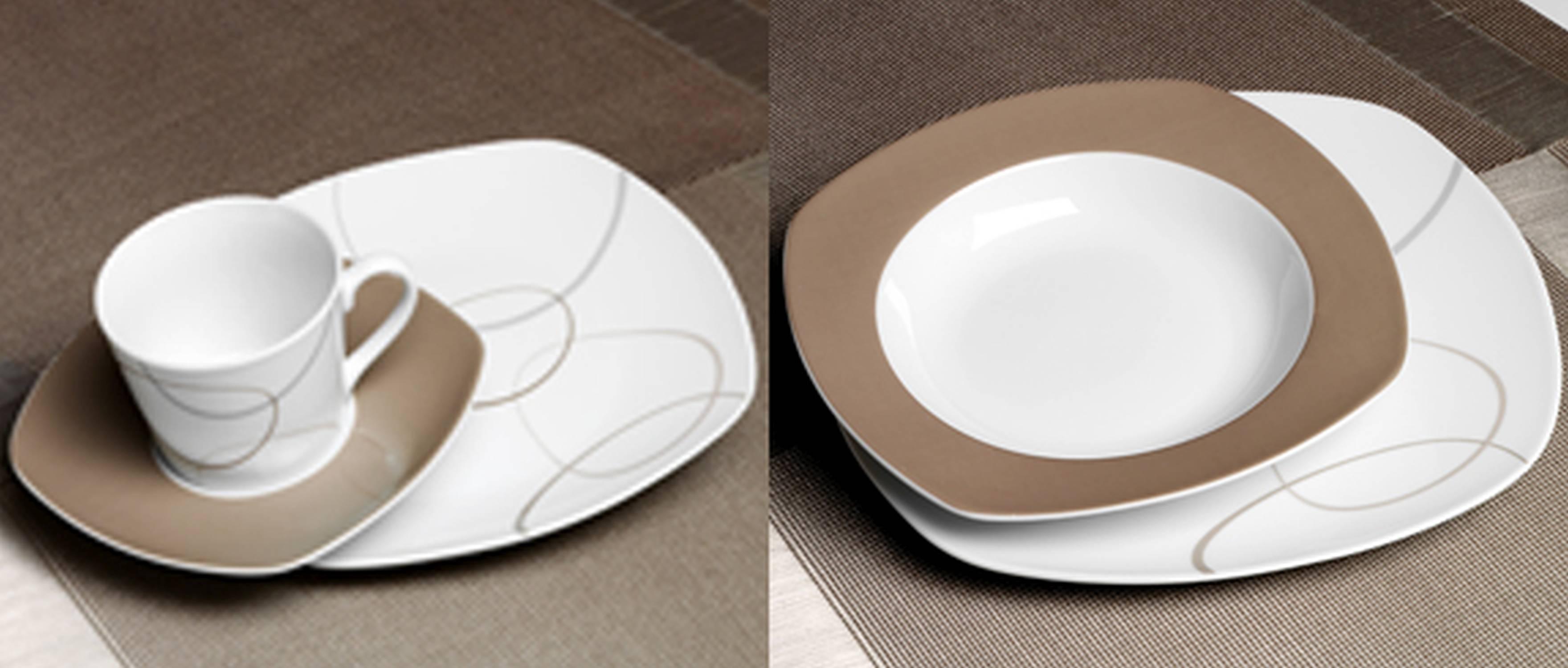 ritzenhoff breker kombiservice flirt porzellan serie alina marron 30 tlg neu gastro. Black Bedroom Furniture Sets. Home Design Ideas