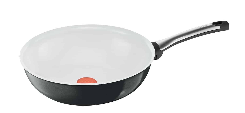 tefal gastro talent keramik induktion wok pfanne 28 cm schwarz wei neu ebay. Black Bedroom Furniture Sets. Home Design Ideas