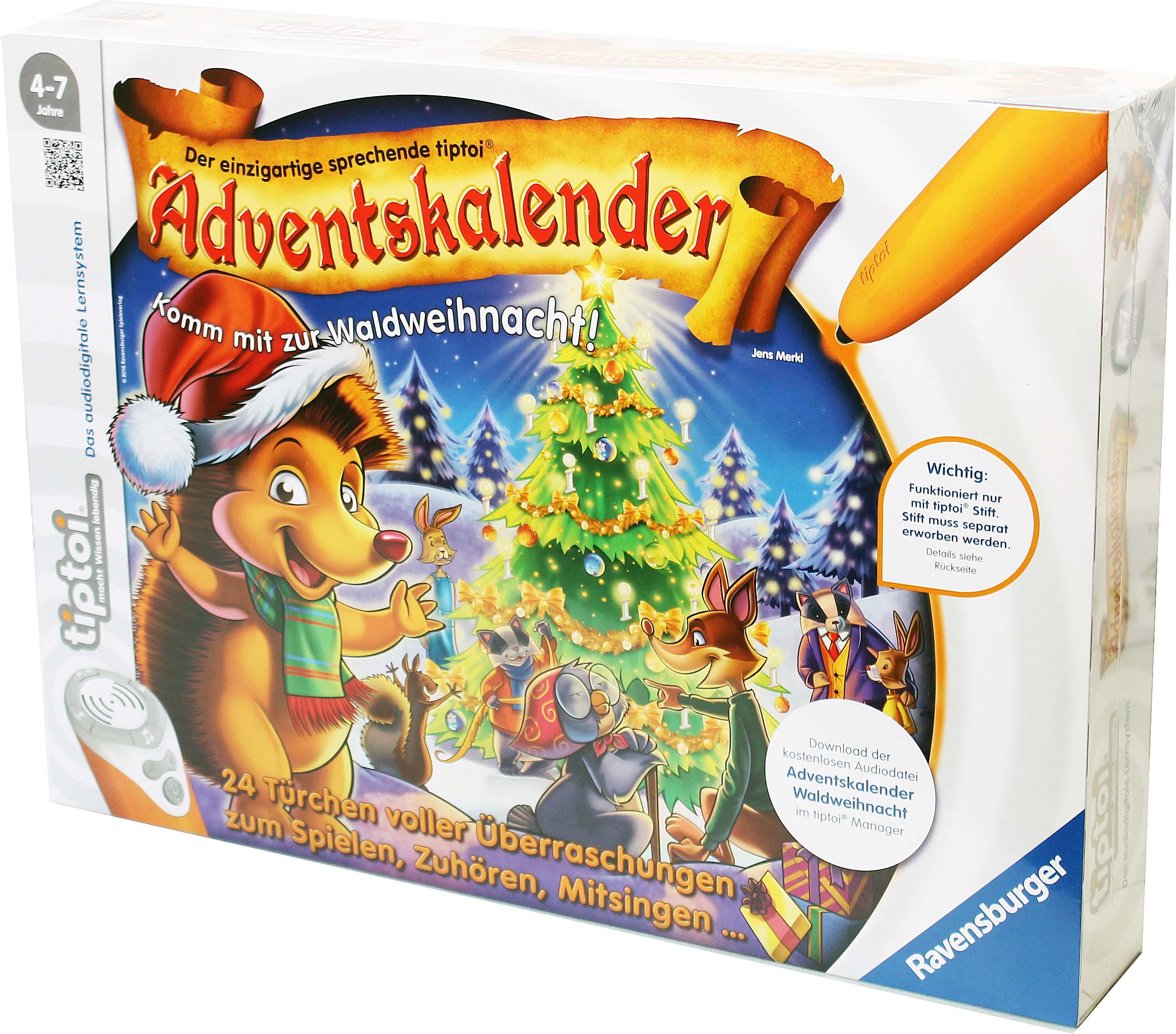 Weihnachtskalender Tiptoi.Ravensburger Tiptoi 00758 Adventskalender Waldweihnacht Der