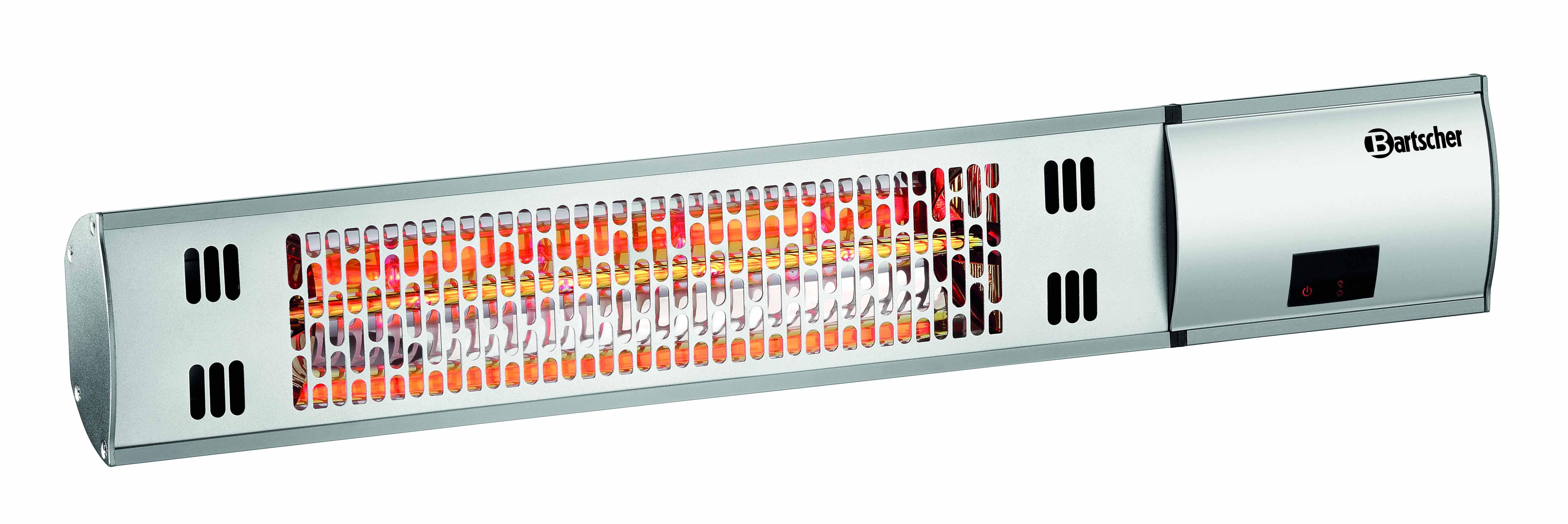 bartscher elektro infrarot wand heizstrahler mit fernbedienung w2000 neu. Black Bedroom Furniture Sets. Home Design Ideas