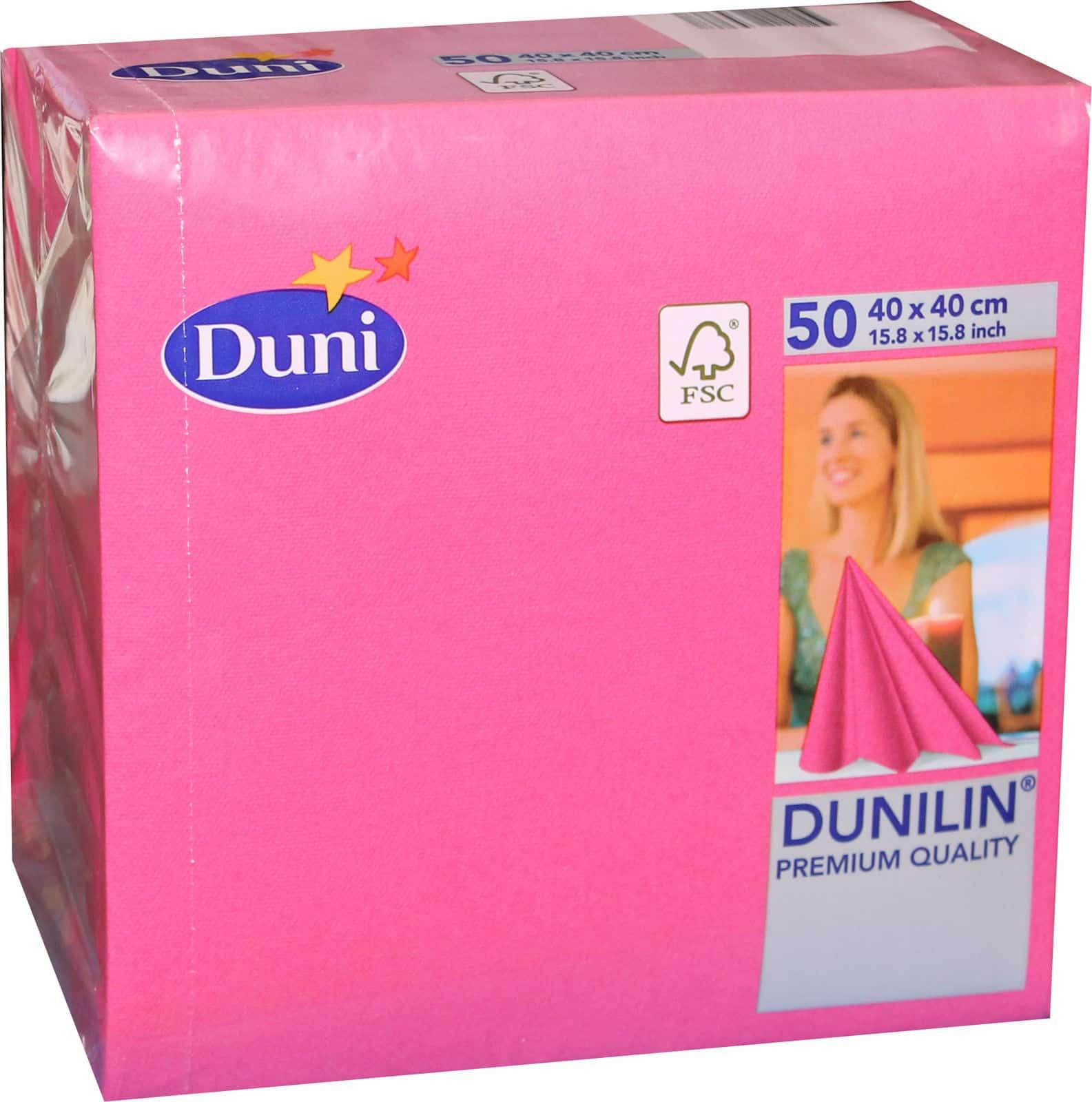 50 duni dunilin 165386 gastro servietten 40 x 40 cm tischdeko fuchsia pink neu. Black Bedroom Furniture Sets. Home Design Ideas