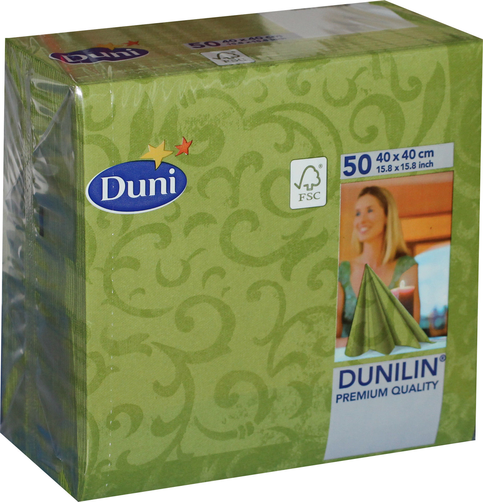 50x Duni 166041 Gastro Servietten 40 X 40 Cm Sarala Herbal