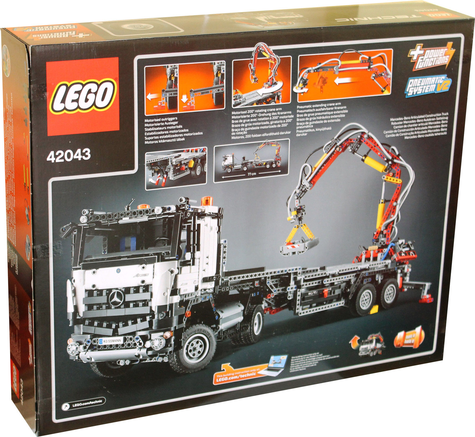 2 in 1 lego technic mercedes benz arocs 3245 lkw kranwagen. Black Bedroom Furniture Sets. Home Design Ideas