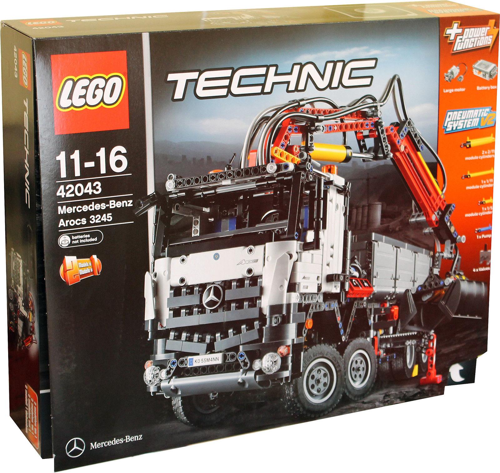 2 in 1 lego technic mercedes benz arocs 3245 lkw kranwagen truck bagger neu ebay
