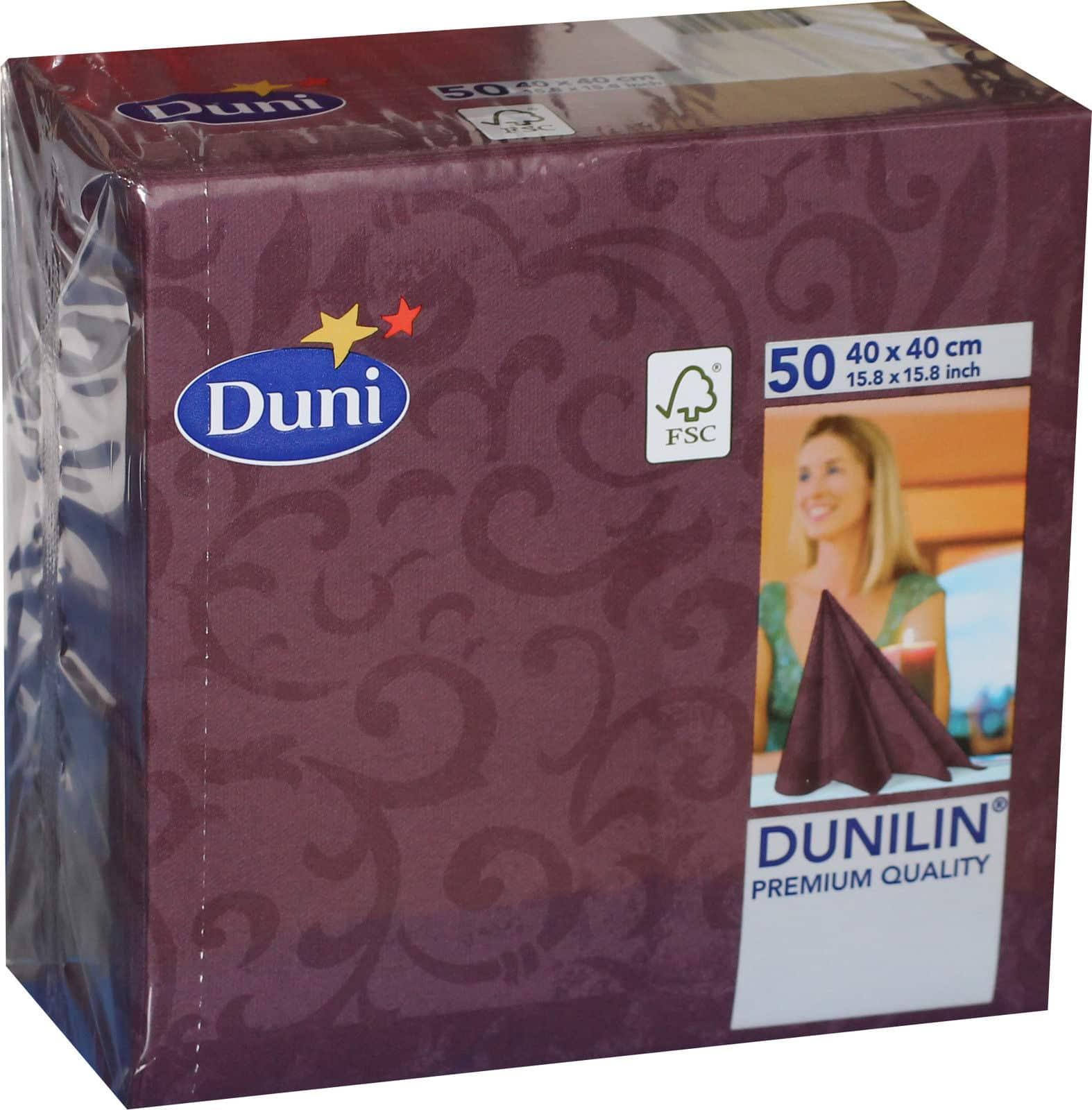 50x Duni Dunilin 165603 Gastro Servietten 40 X 40 Cm