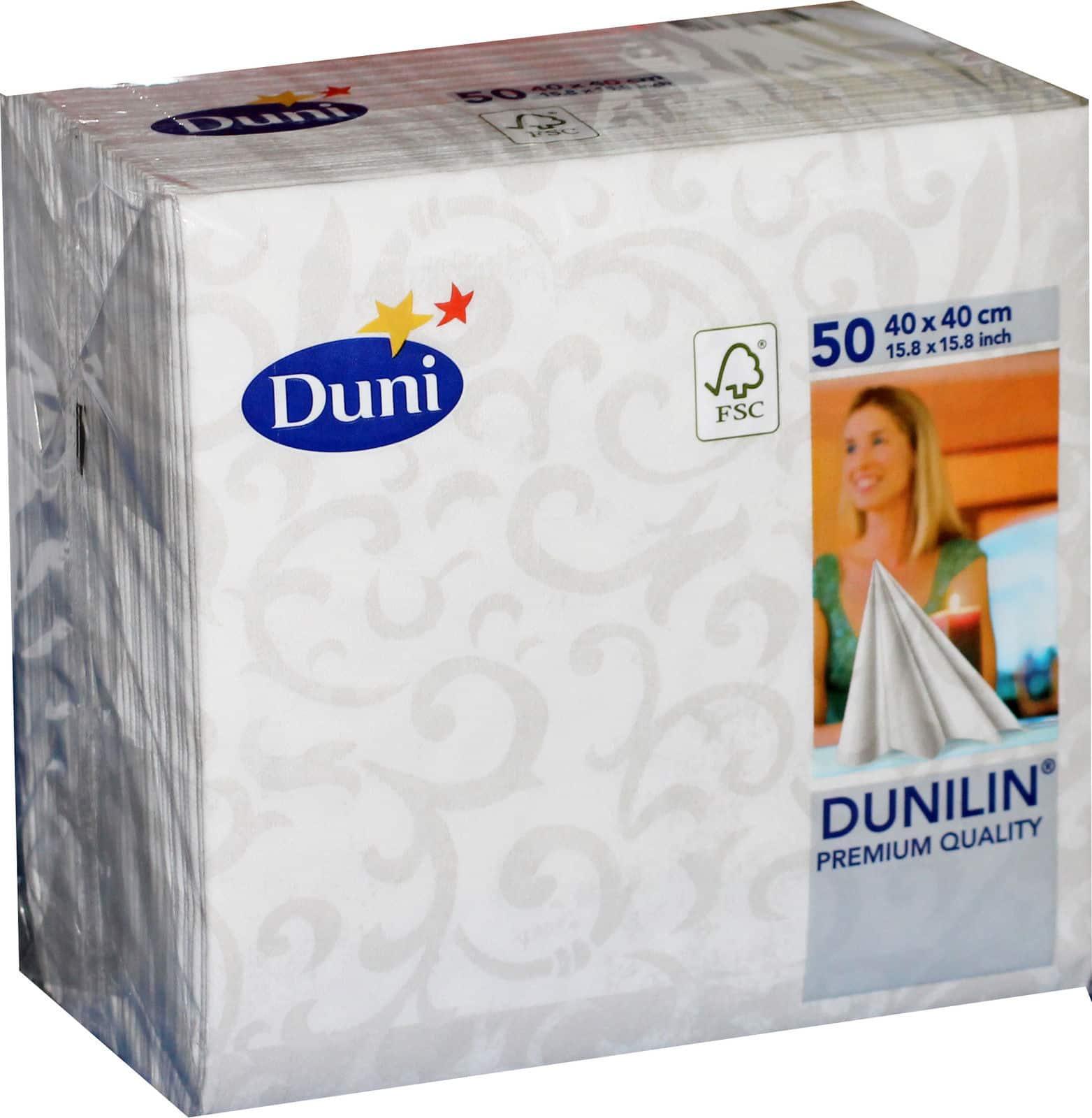 50 duni 163254 gastro servietten 40 x 40 cm tischdeko sarala white weiss neu ebay. Black Bedroom Furniture Sets. Home Design Ideas