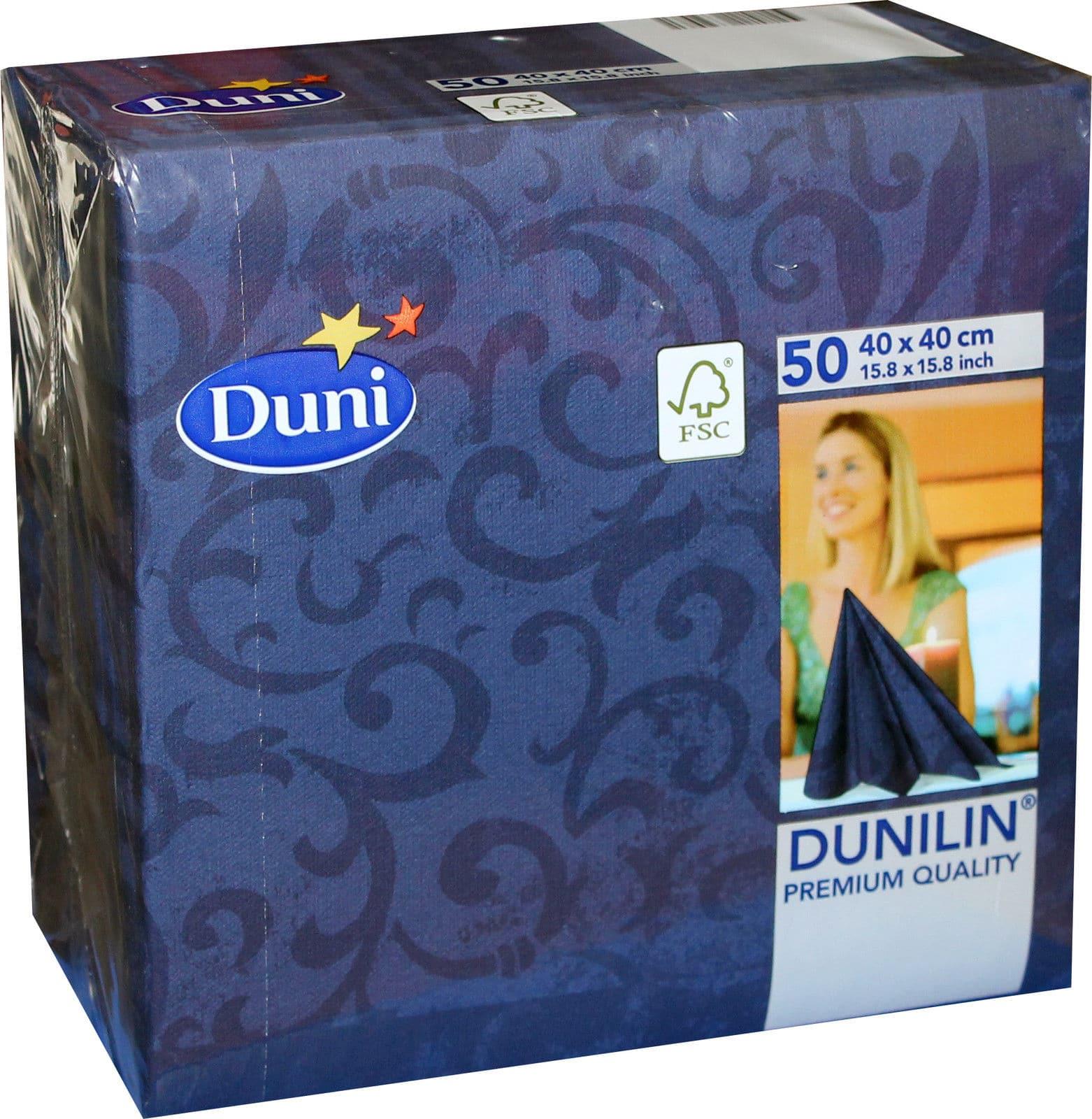 50x duni dunilin 163296 gastro servietten 40 x 40 cm sarala blau neu ebay - Duni servietten falten ...