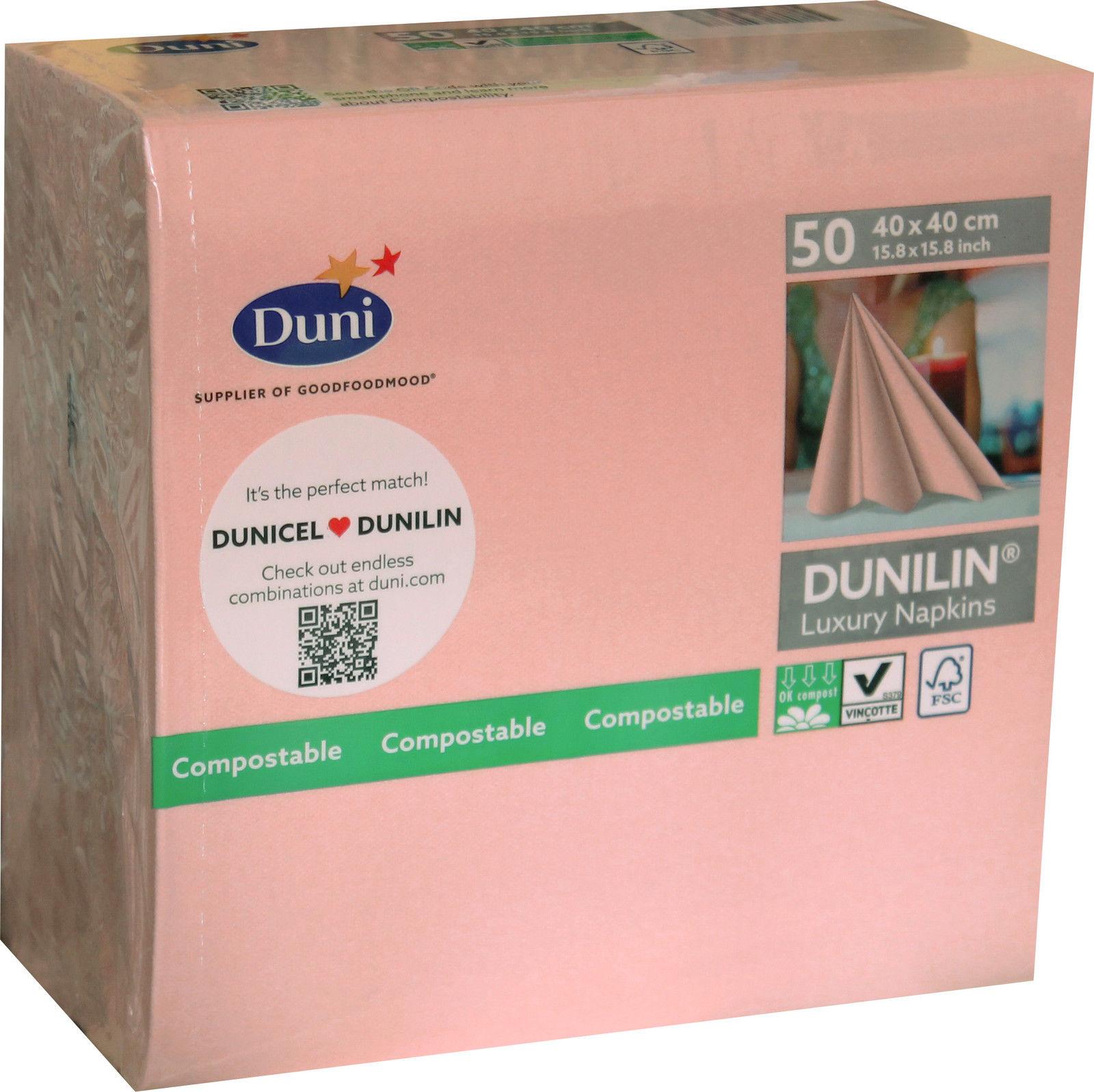 50x Duni Gastro Premium Servietten 40 X 40 Cm Mellow Rose