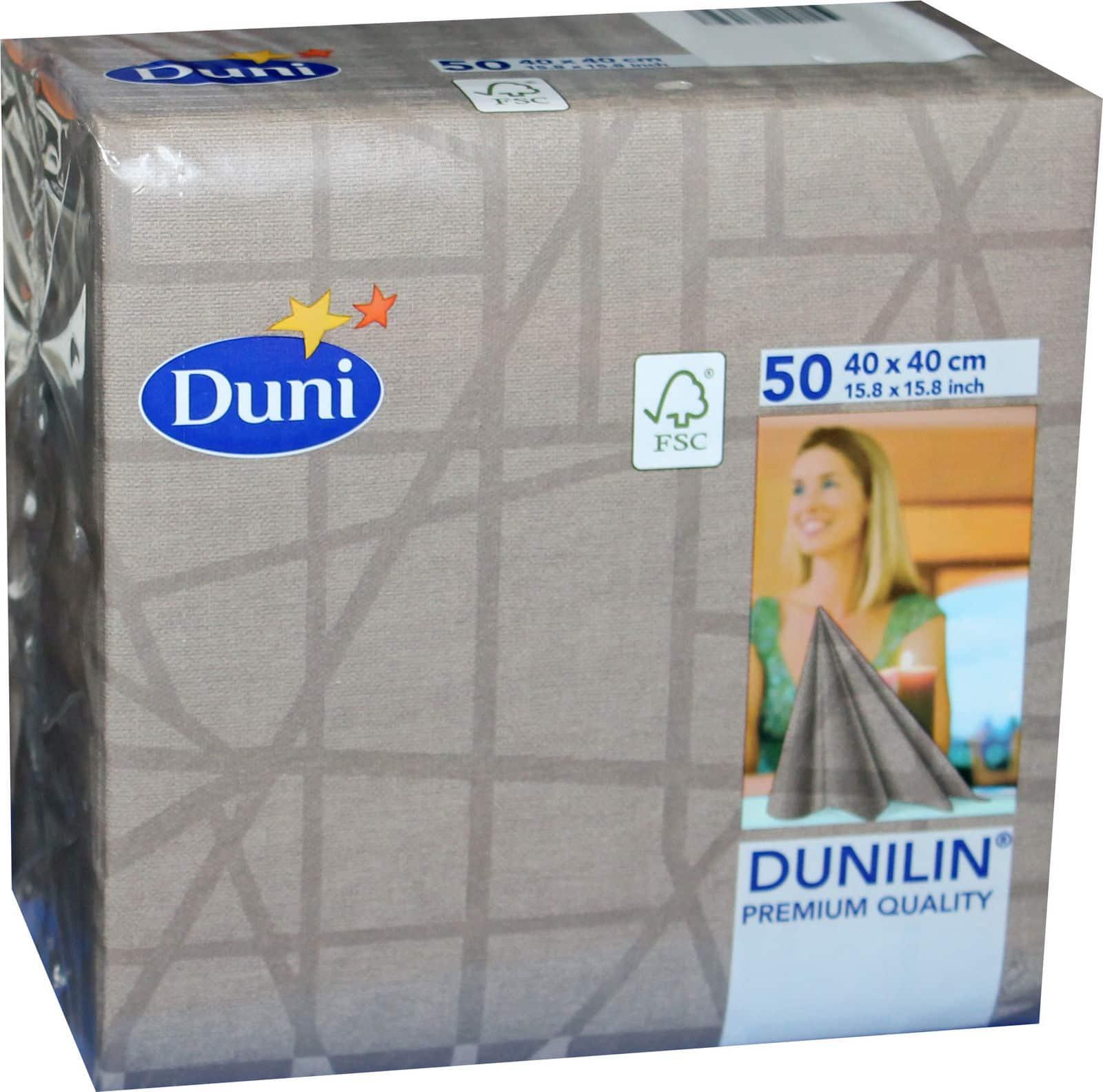 50x Duni 168132 Gastro Servietten Falt Tuch 40 X 40 Cm